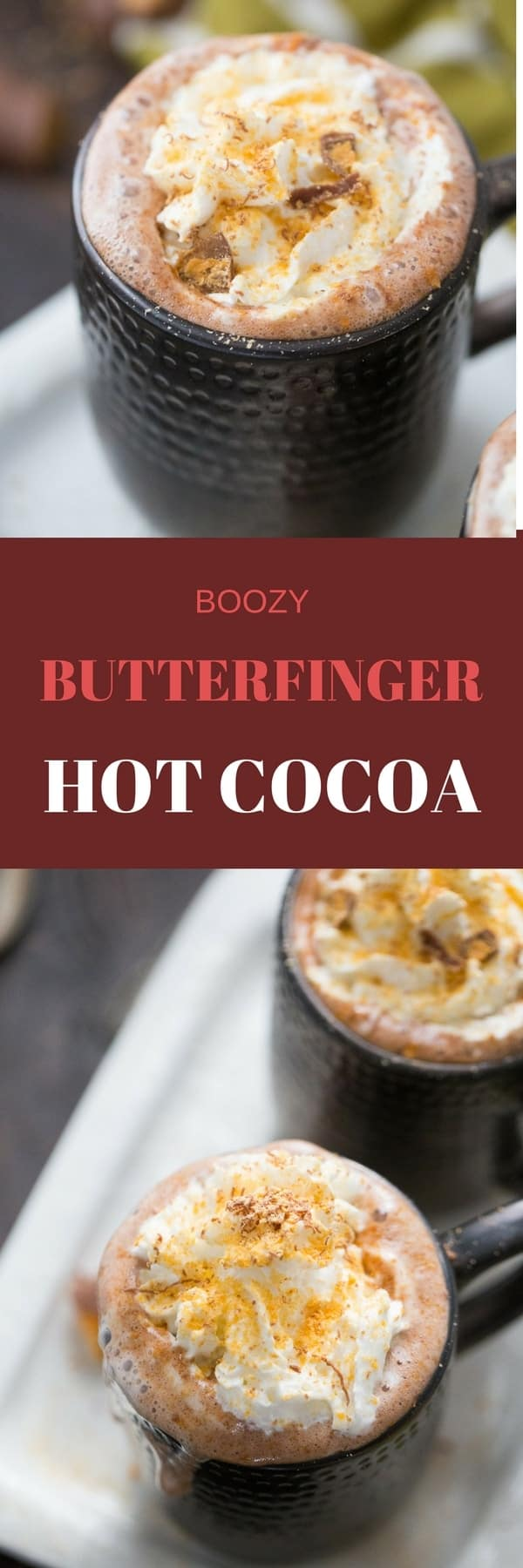 This is the best hot cocoa recipe is going to blow you away! The Butterfinger flavor is irresistible!