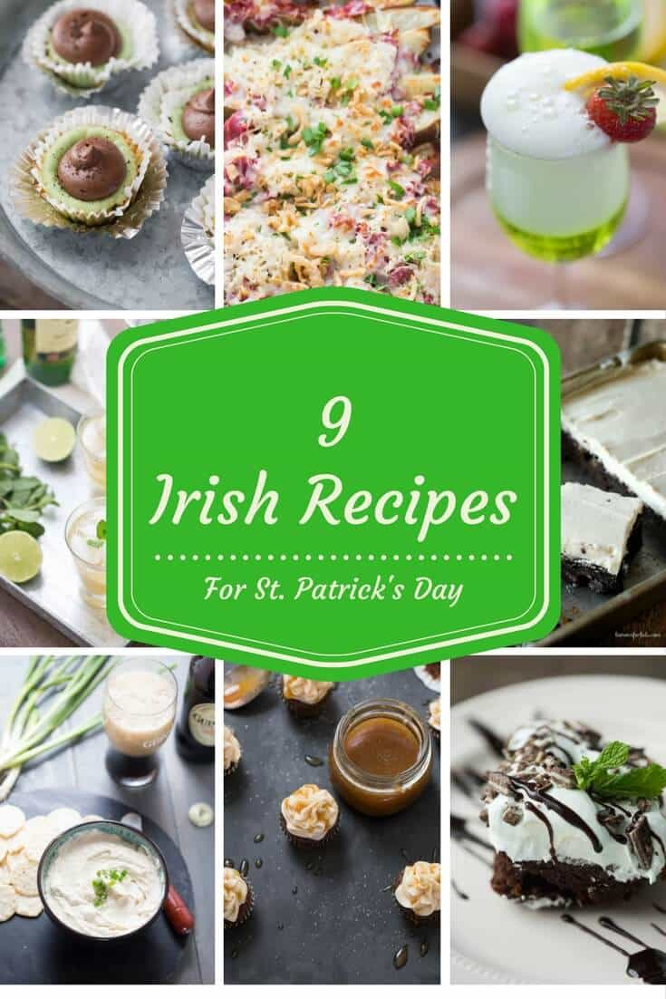 9 Irish Recipes for St. Patrick's Day all in one spot! Let the party begin!