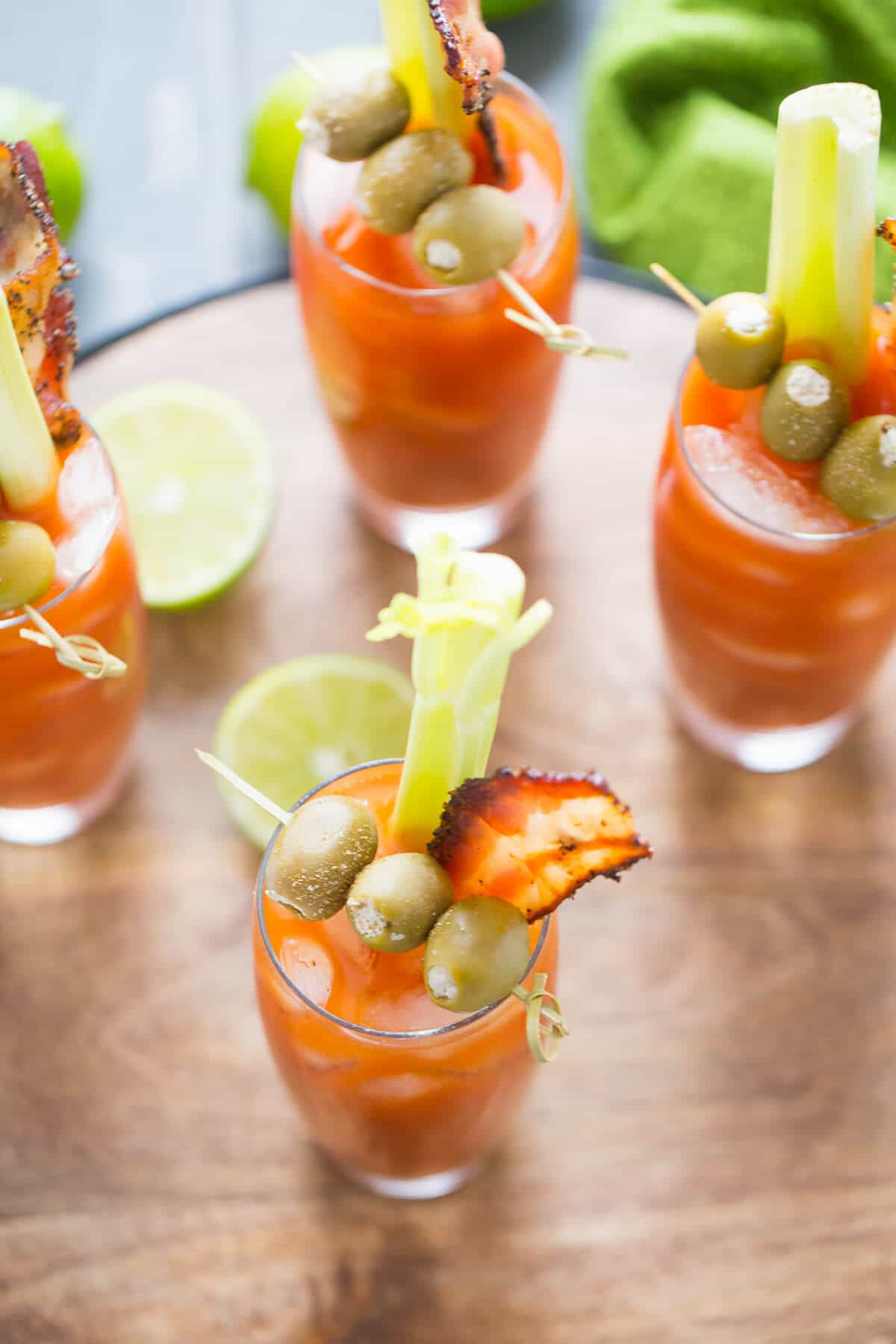 This spicy Bloody Mary is not for the faint of heart! Each sip is flavor filled and delicious! lemonsforlulu.com