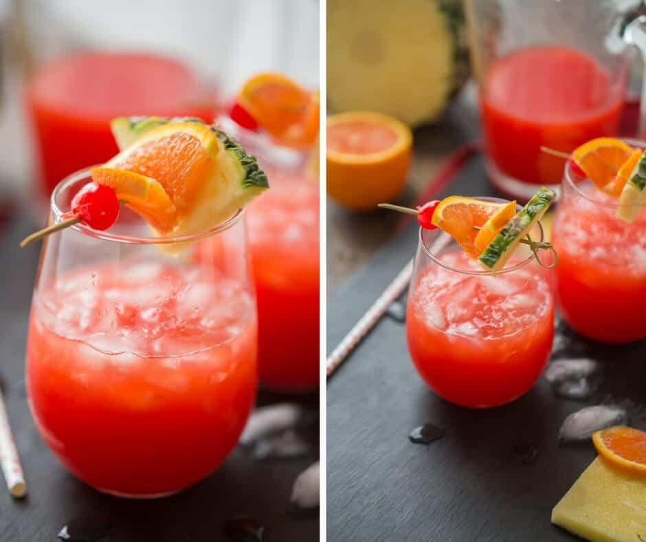 Get the party started with this rum punch recipe! The Caribbean flavors will have you dreaming of the tropics!
