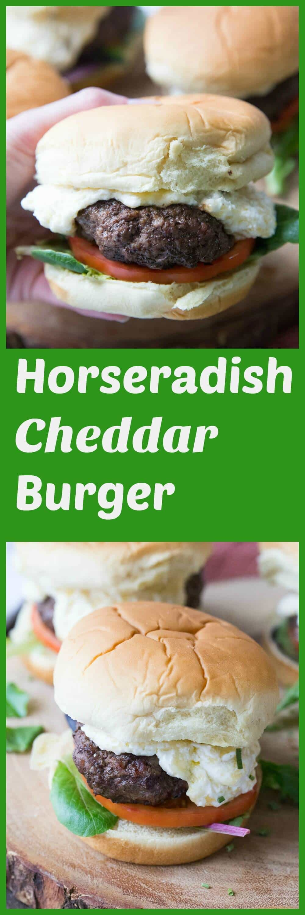 This horseradish cheddar burger is big on flavor! Juicy beef patties are covered in a creamy cheddar cheese speed, the taste is absolutely amazing!