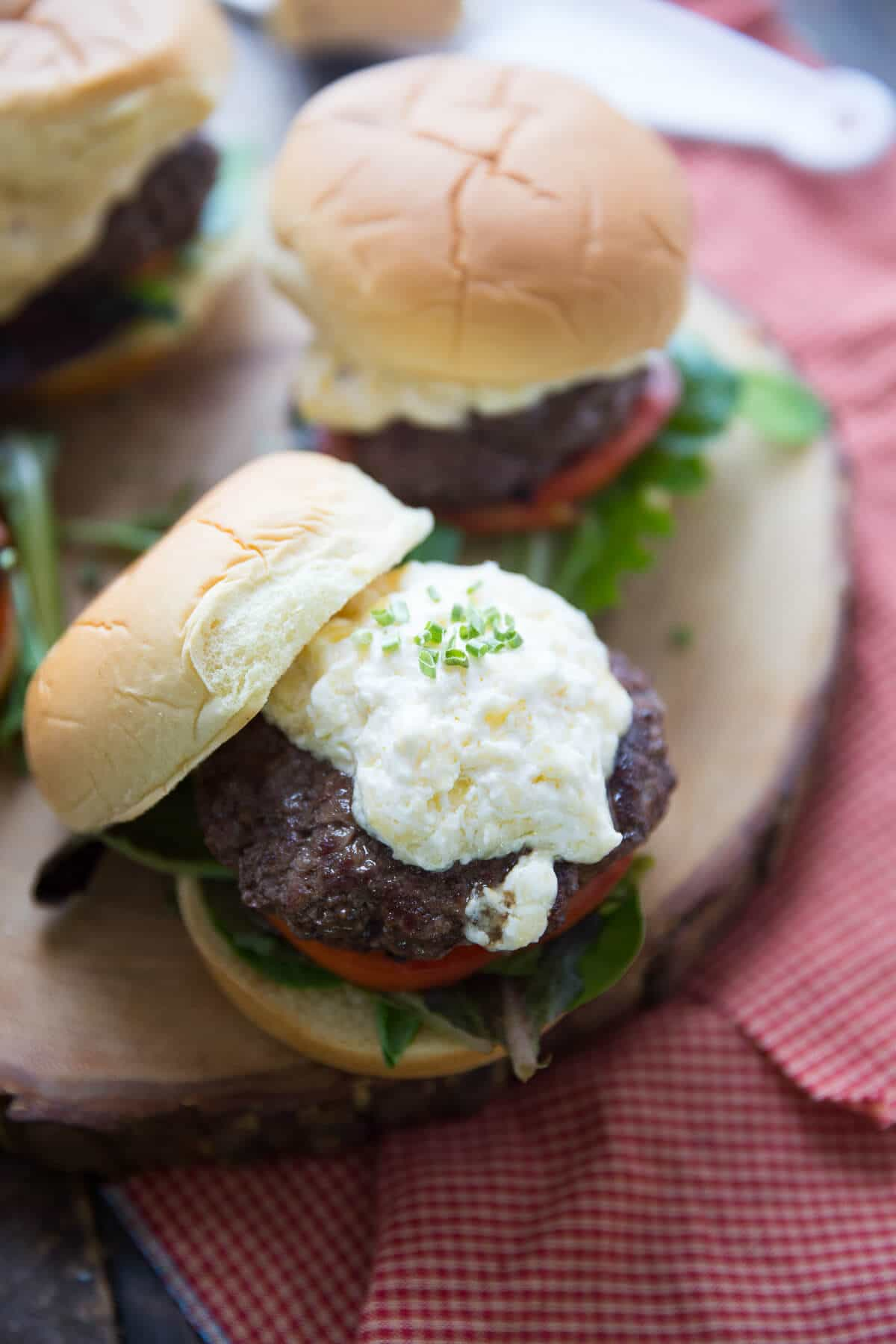 Horseradish cheddar burgers have a unique flavor but the juicy burger is irresistible!