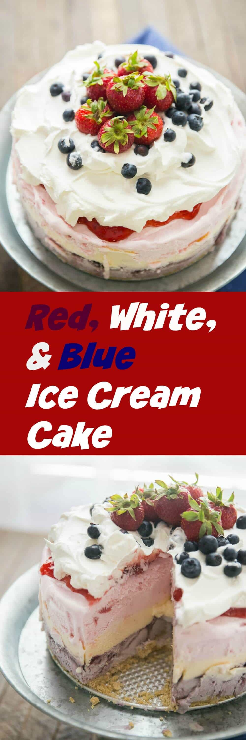 This red, white, and blue ice cream cake is a great way to start of the summer! It is perfect for summer parties, it is fun, patriotic and super simple! lemonsforlulu.com