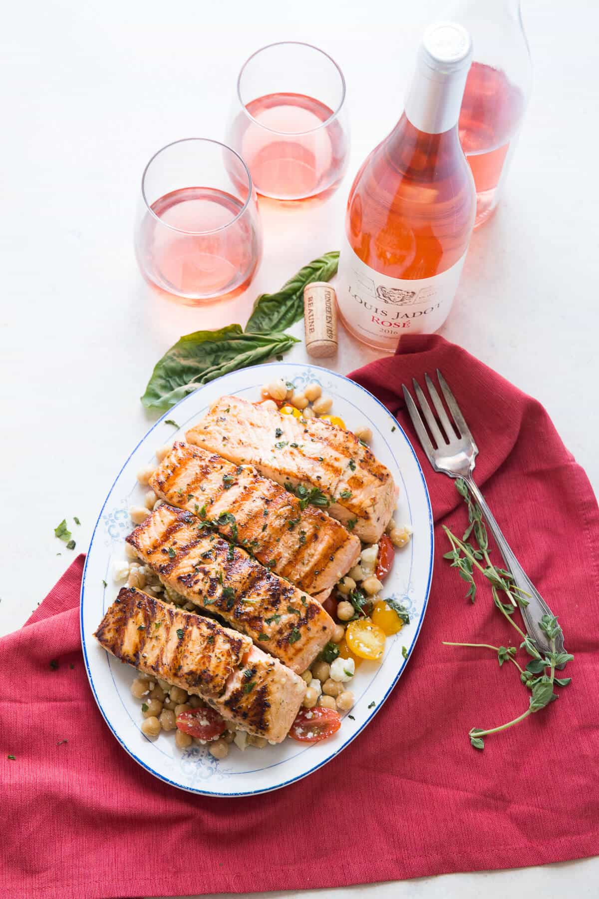 This easy grilled salmon recipe ha a little Mediterranean flair! The flavor is amazing!