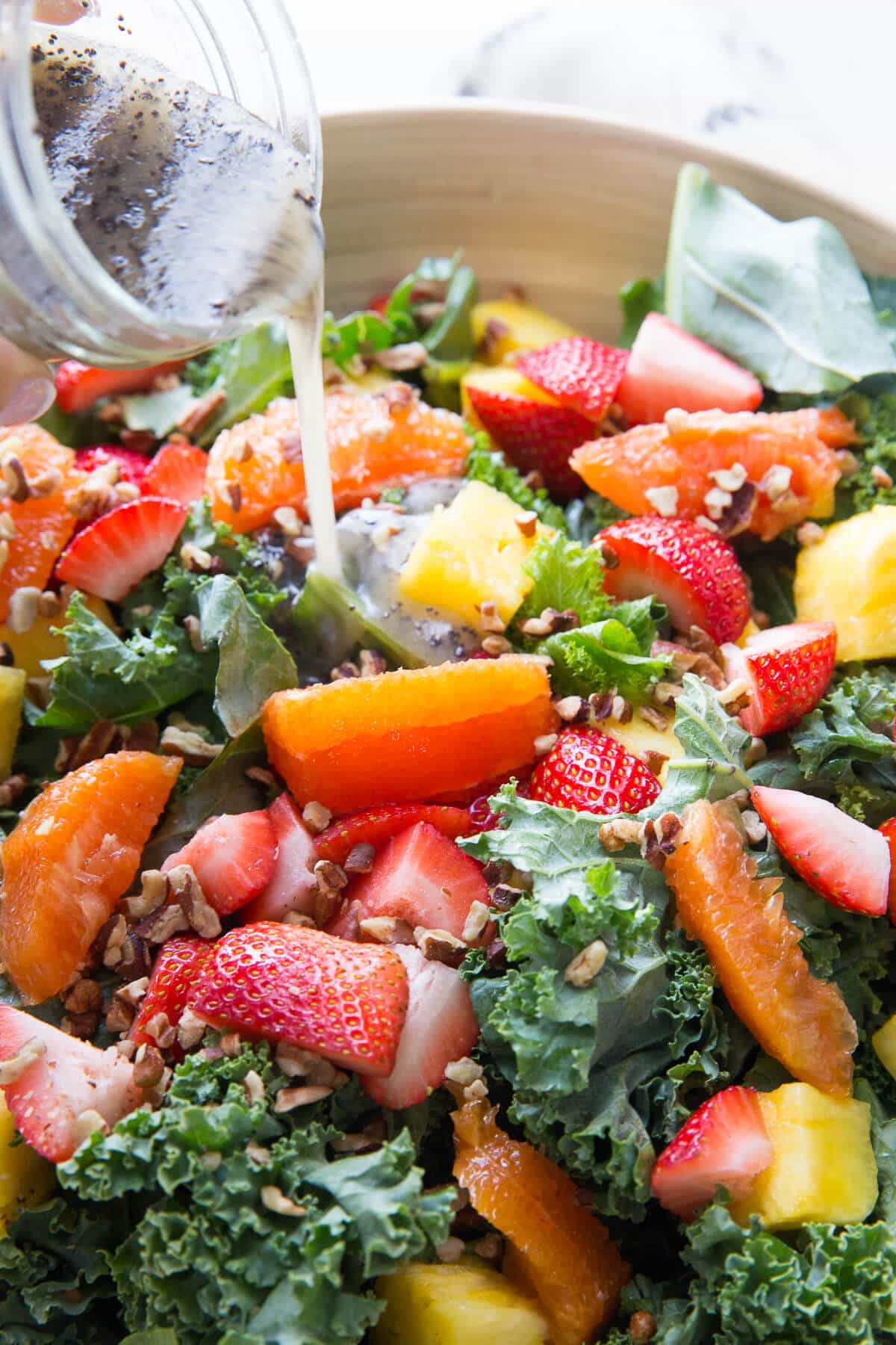 Citrus salad with fresh fruit and a mix of greens is colorful and filled with vitamins!