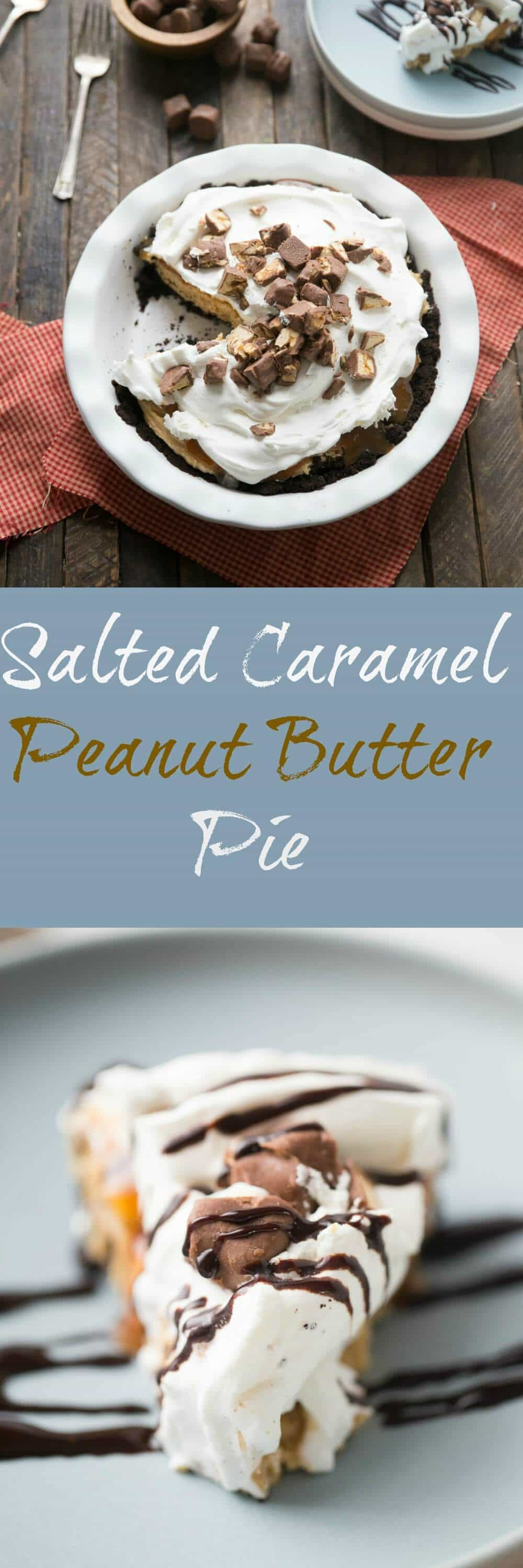 Peanut butter pie is always a favorite but when you add caramel and chocolate candies, you have an unforgettable pie that will become your most requested dessert!
