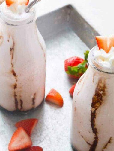 Strawberry milkshakes make everything better, so does a little bourbon!