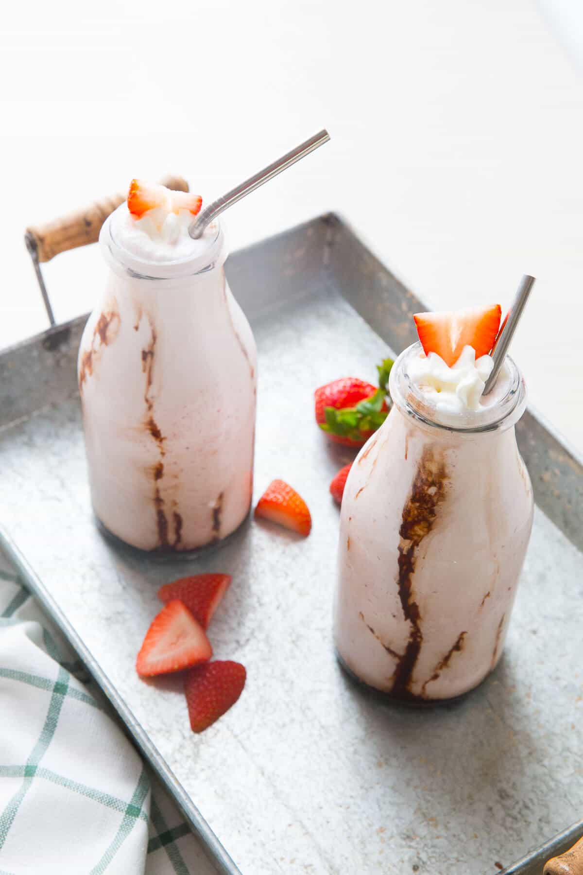 Strawberry milkshakes for everyone! Don't forget the bourbon!