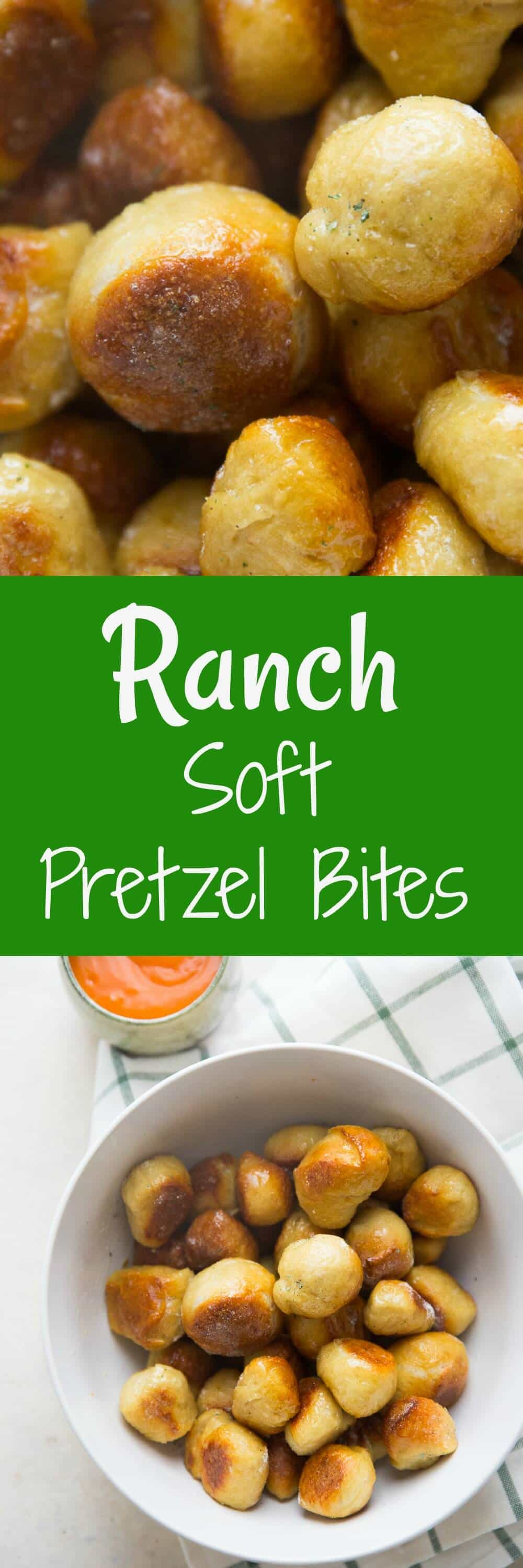 Soft pretzels can be made at home and they are so easy it's embarrassing! Coat them in butter and ranch seasoning and serve them with Buffalo sauce! Be warned, they are totally addicting!