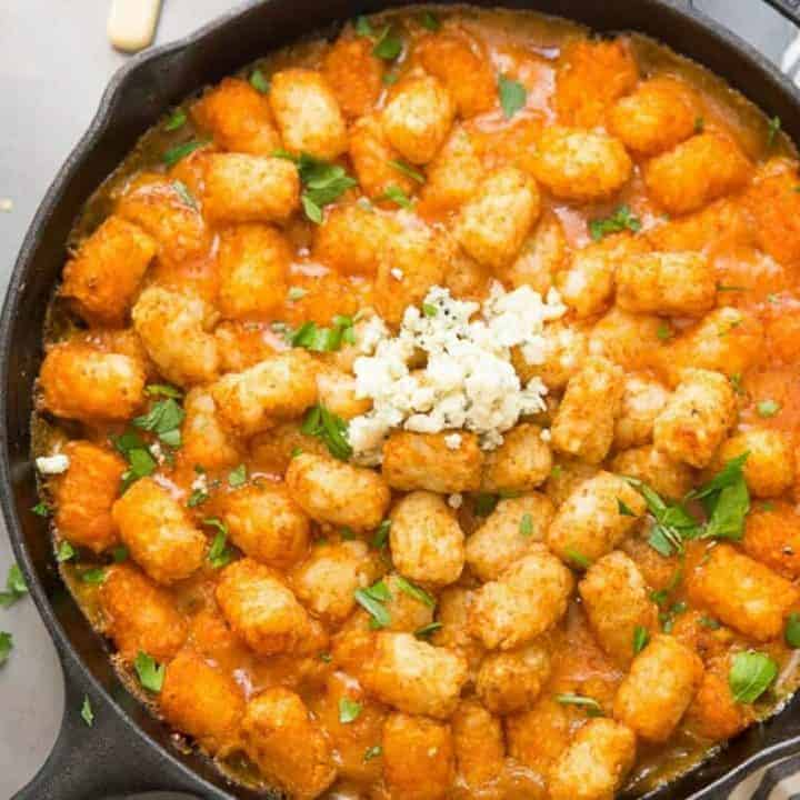 Easy, no-fuss ingredients make this tator tot casserole a breeze to prepare! This family pleasing recipe has lots of cheese, spice and crispy tots!