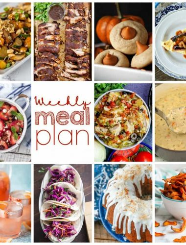 Weekly Meal Plan Week 114– 10 great bloggers bringing you a full week of recipes including dinner, sides dishes, and desserts!
