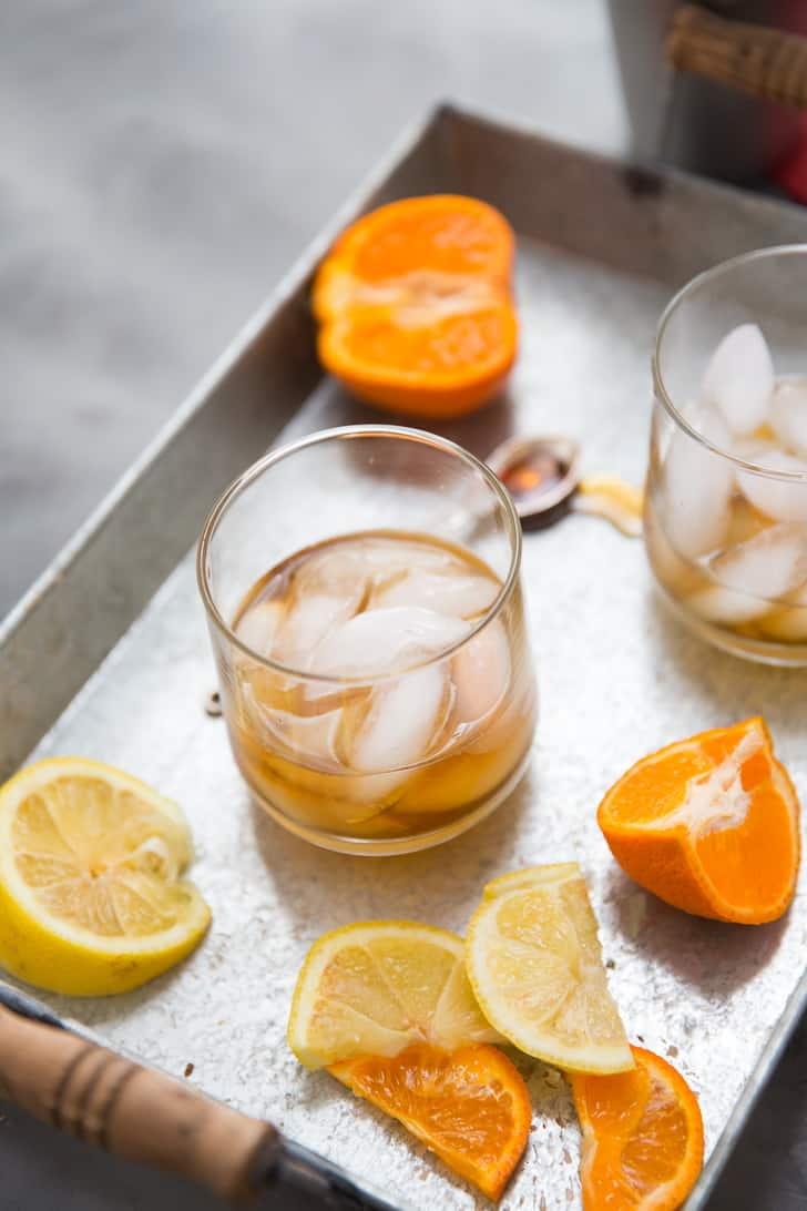 Bourbon cocktail for fall