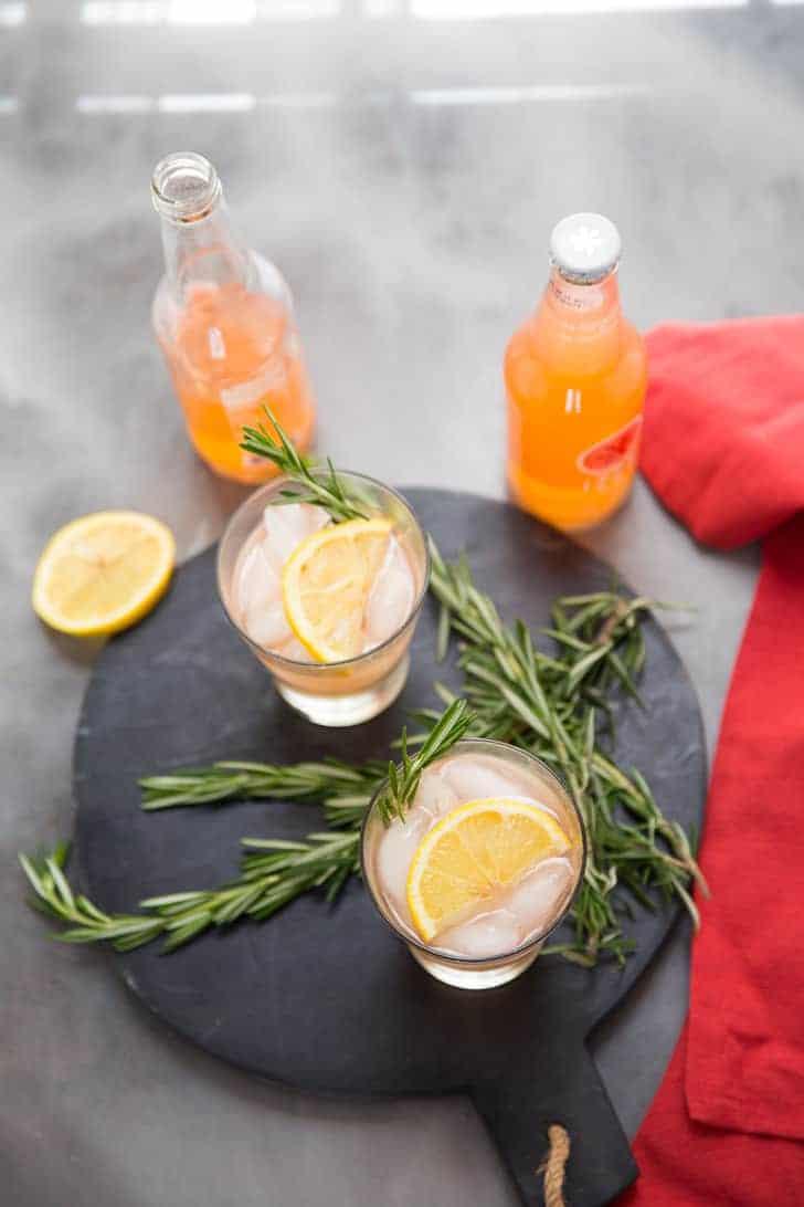 Greyhound drink vodka with grapefruit sodas