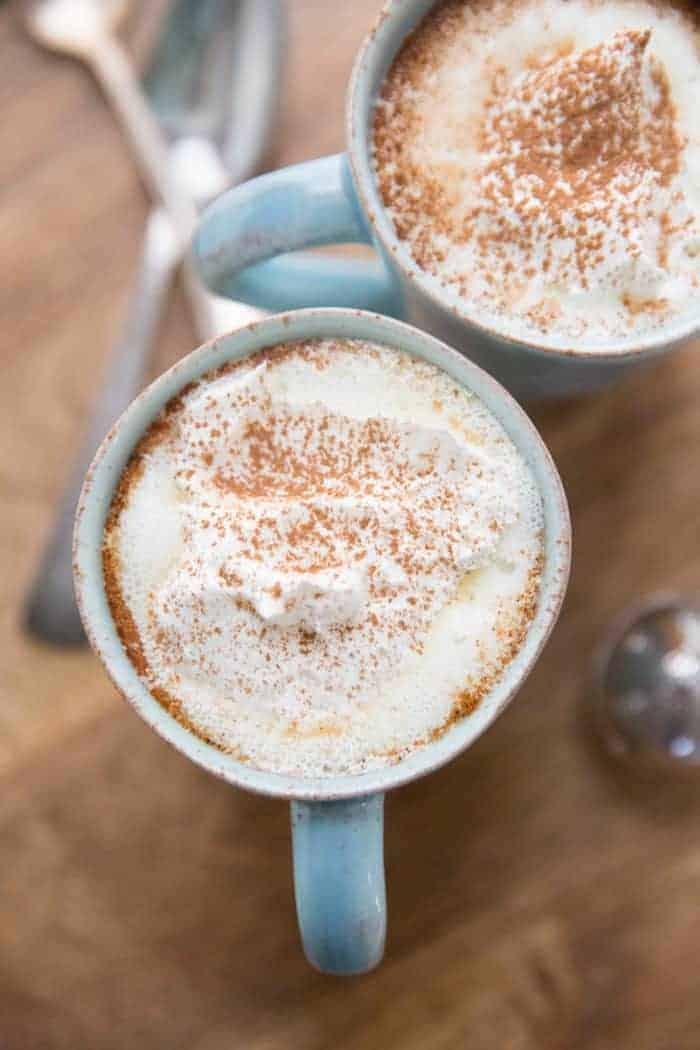 White Russian white hot chocolate