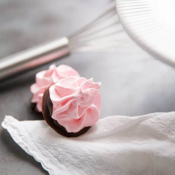 Chocolate Dipped Cherry Meringue Cookie Recipe