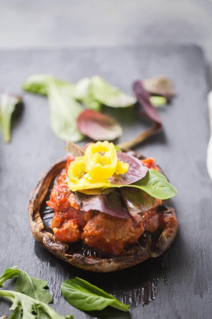 Healthy stuffed mushroom recipe