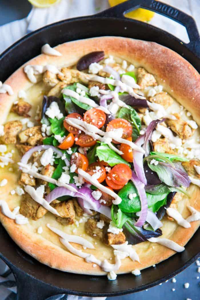 Skillet Pizza close up