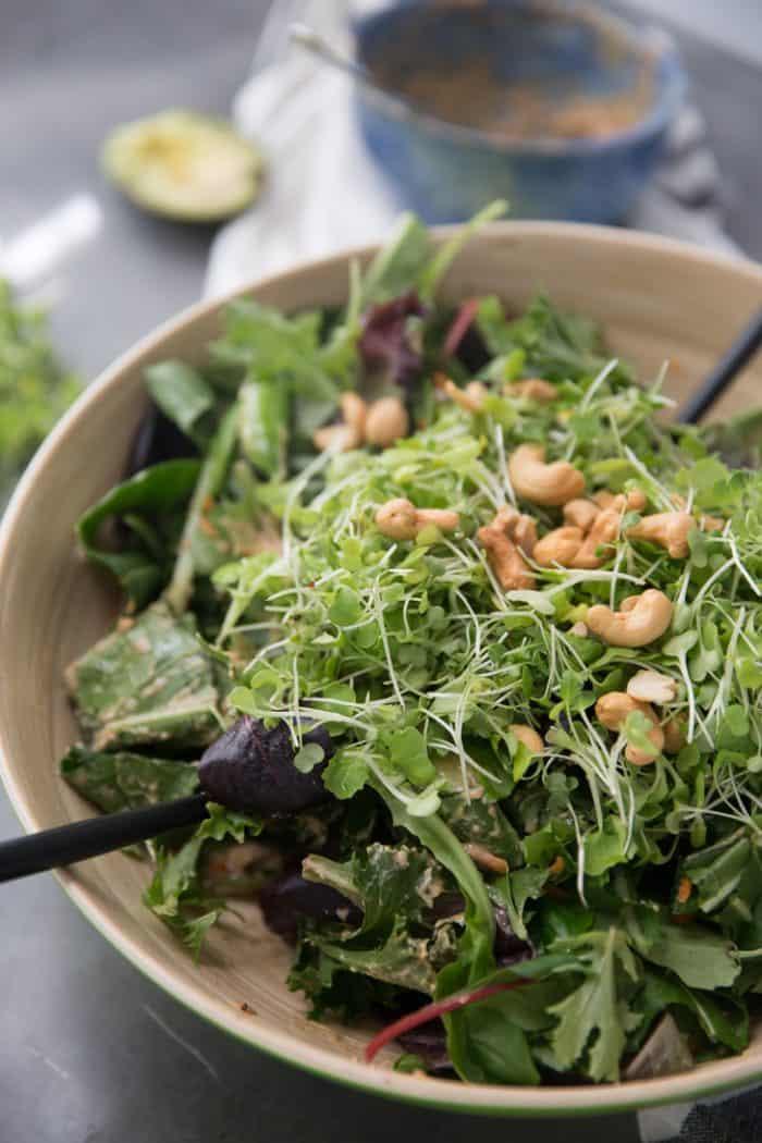 Paleo cashew chicken salad close