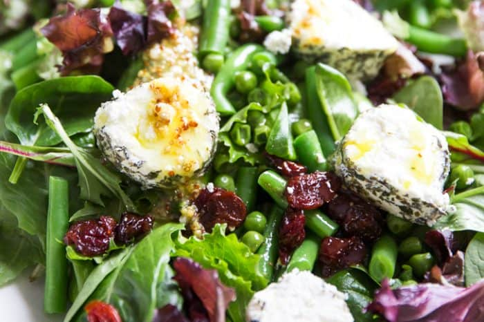 Spring salad recipe close up