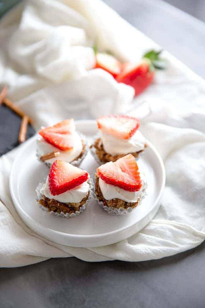 Strawberry Pretzel Bites on white plate