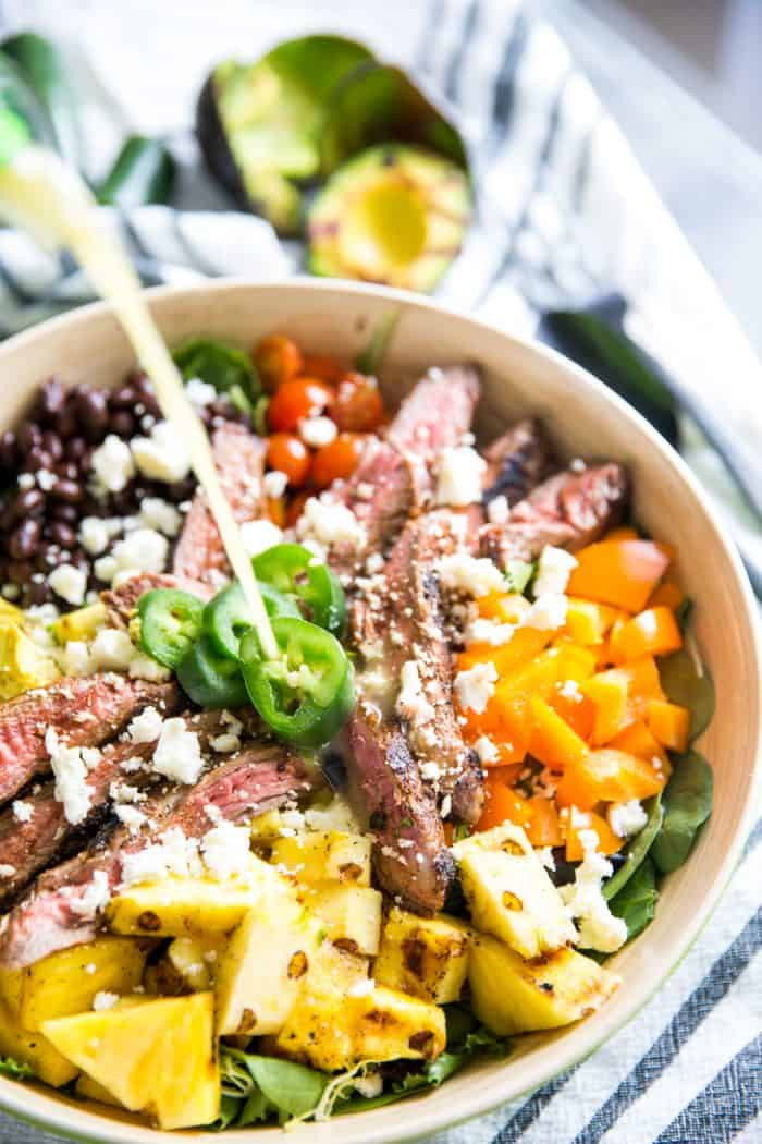 Easy Taco Salad with dressing