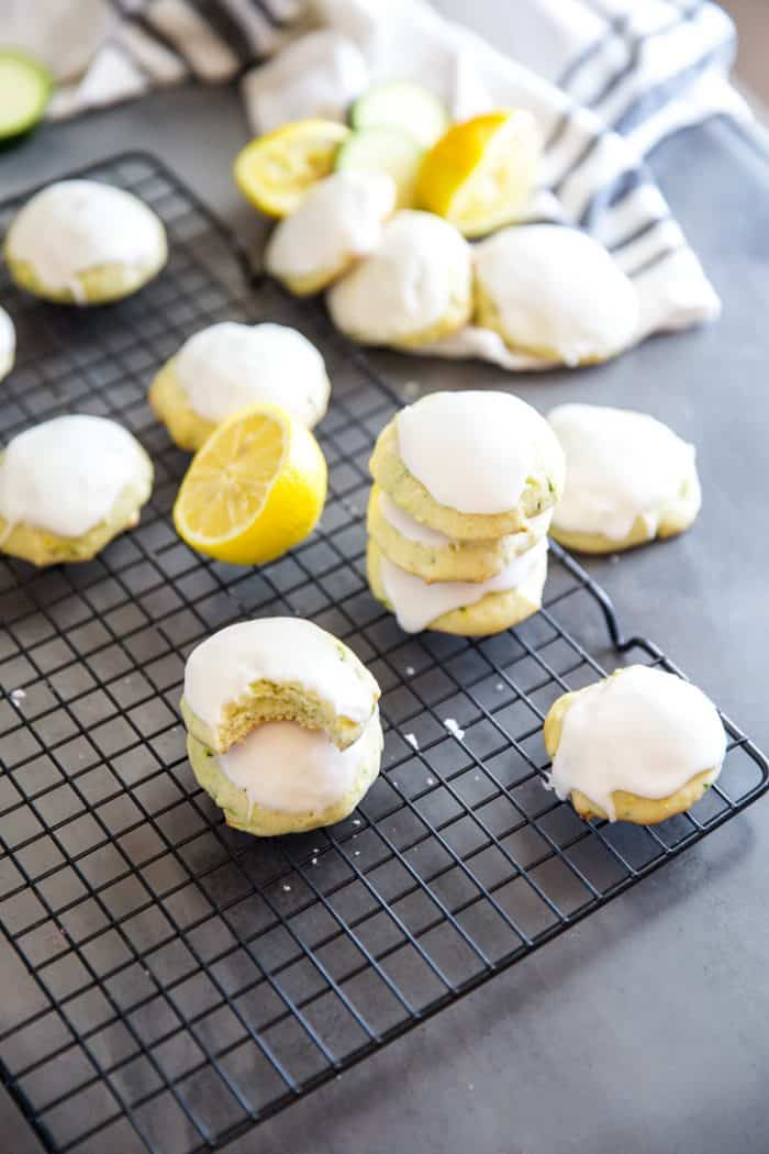 Zucchini cookies stacked