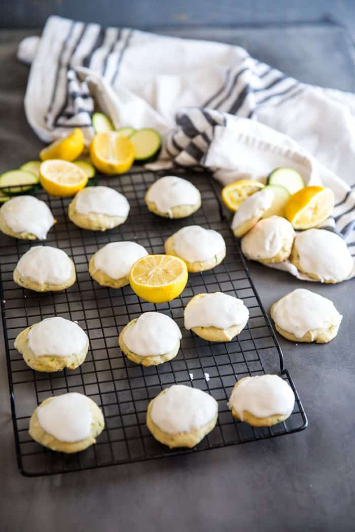 Zucchini cookies with lemons and zucchini