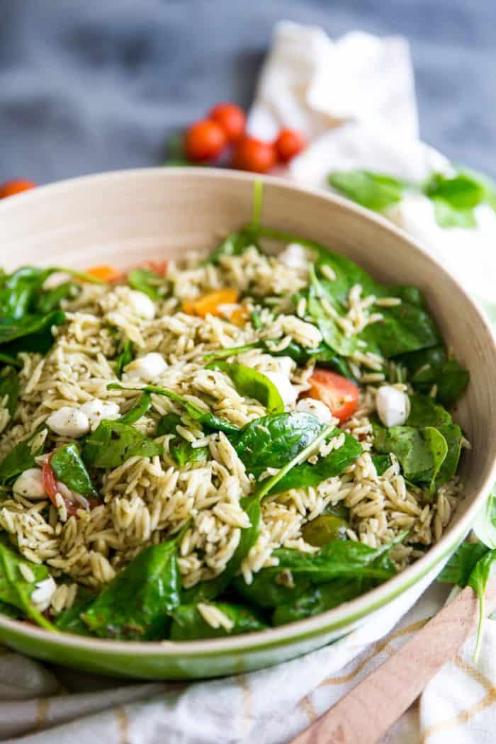 Orzo salad side