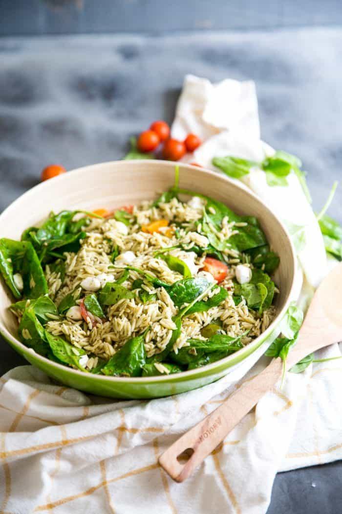 orzo salad whole dish