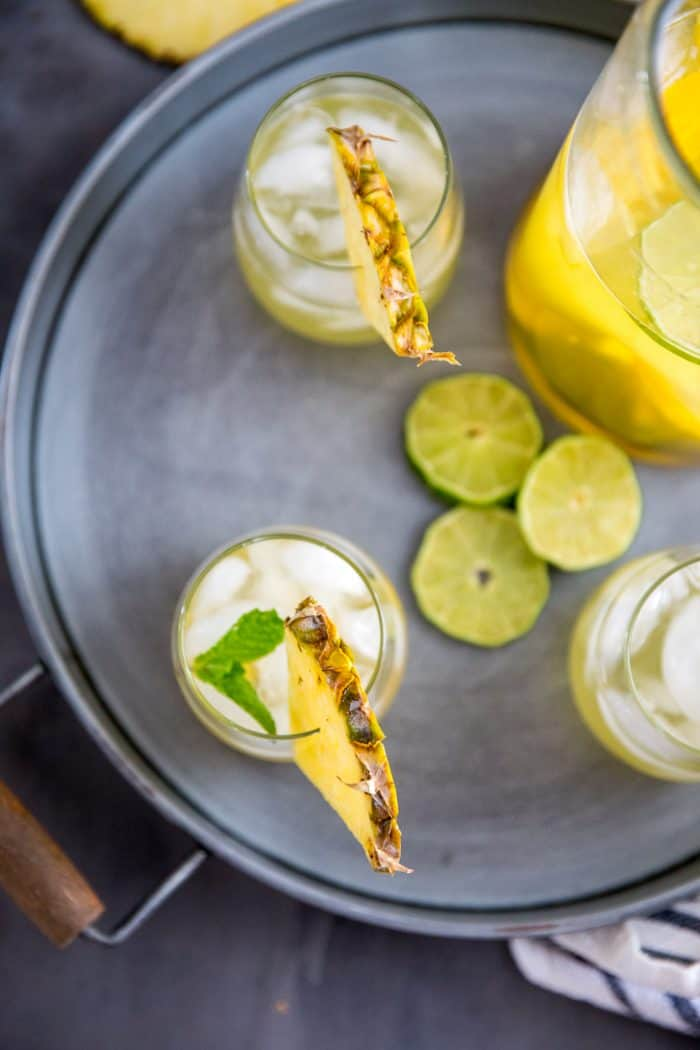 Summer Sangria on a tray