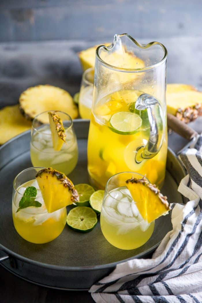 Summer sangria white wine sangria with a pitcher