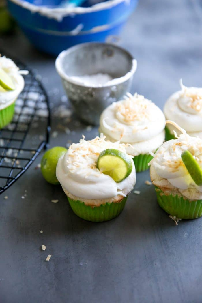 Key Lime Cupcakes three
