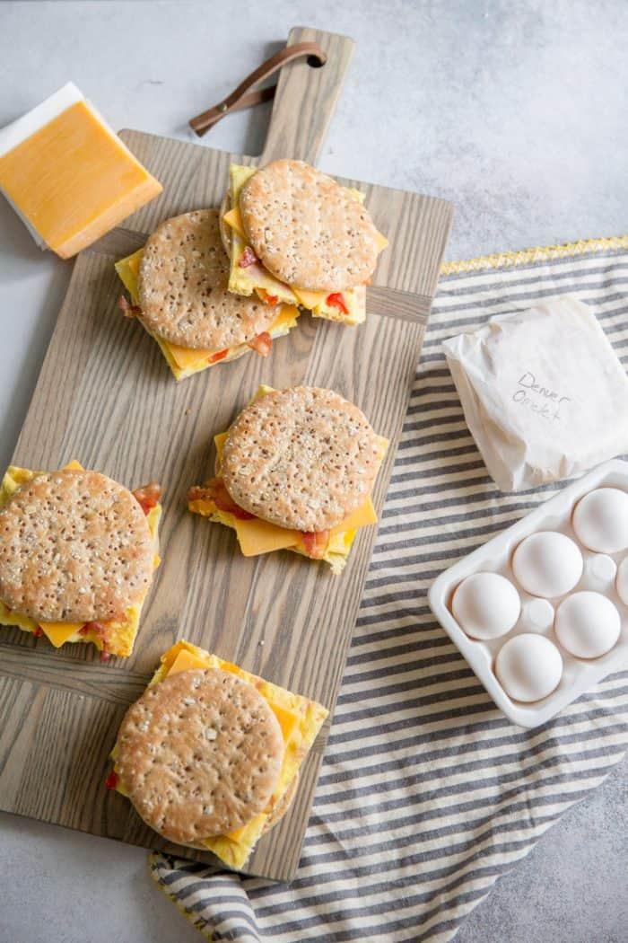 Denver omelet sandwiches