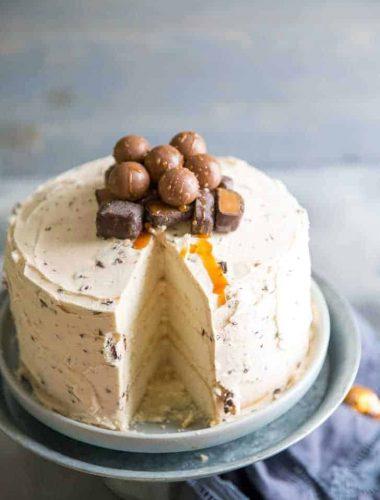 Salted Caramel Chocolate Chip Cake slice missing