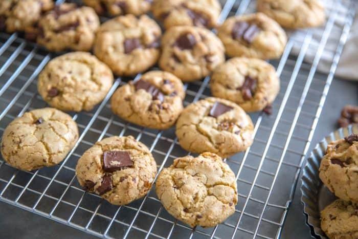 chocolate chip walnut cookies with chocolate chunks
