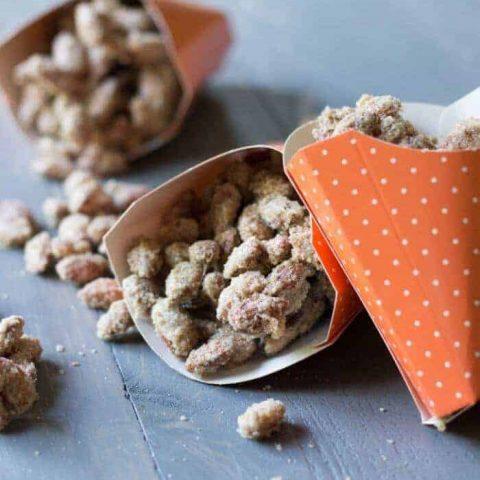 Pumpkin Pie Spice Candied Almonds