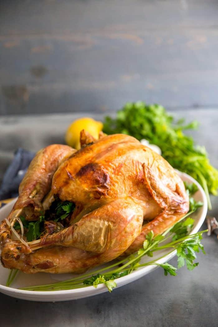 Roasted turkey recipe with lemons