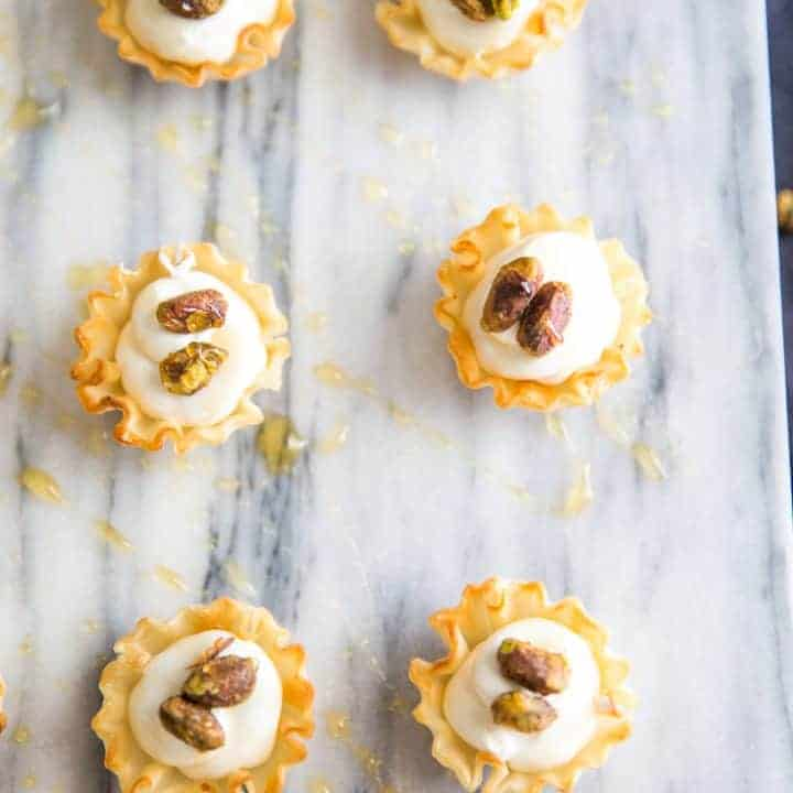 Mini whipped goat cheese cups