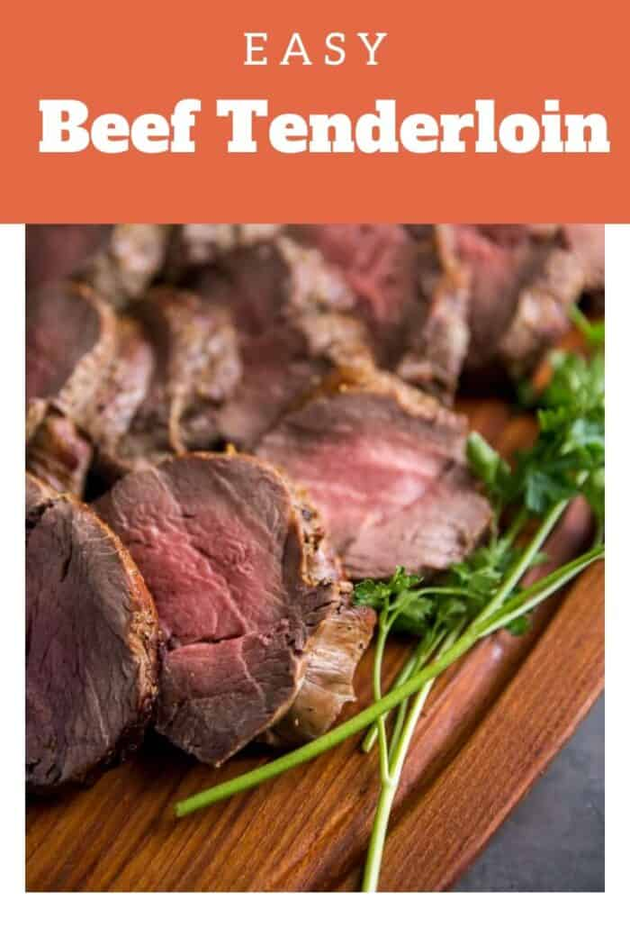 A close up of Beef tenderloin