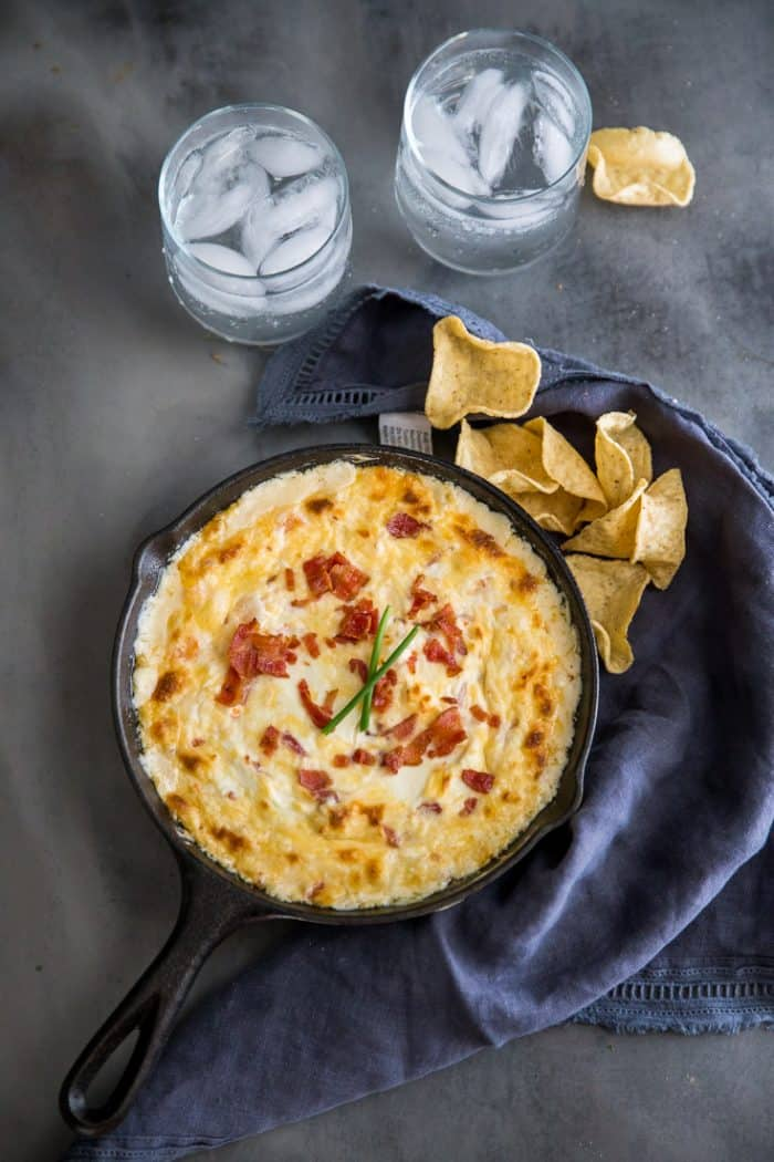 shrimp dip with chips
