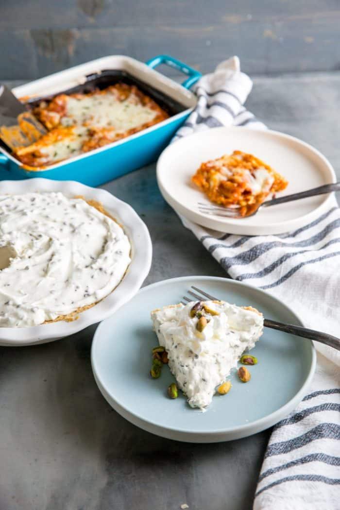 Cannoli cheesecake with lasagna