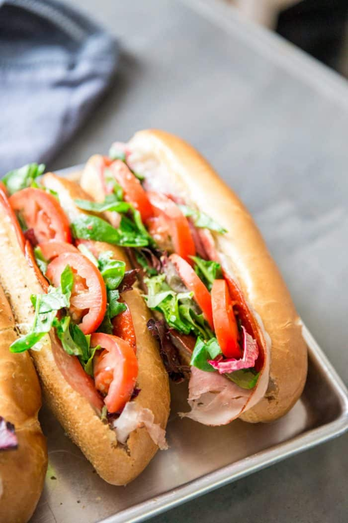 Spicy Italian Subs two together