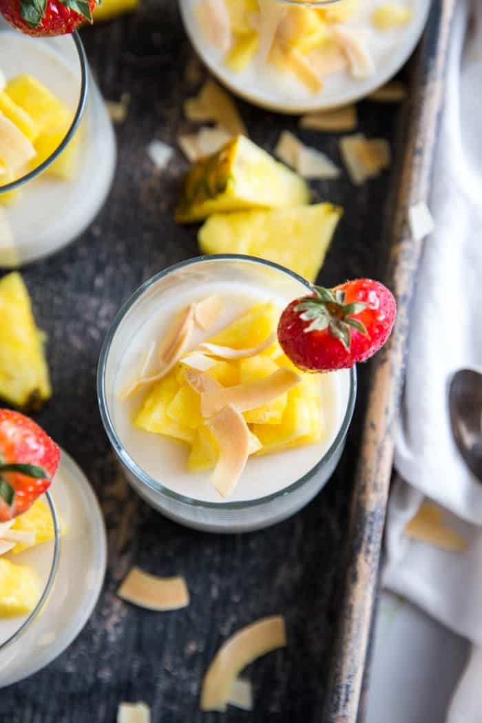 panna cotta glass with fruit