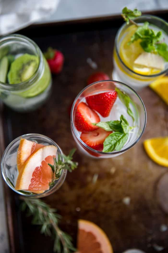 Detox water strawberry water