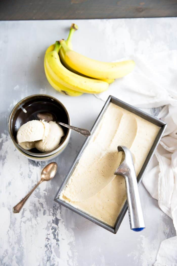 Banana Ice Cream Bowl and Container