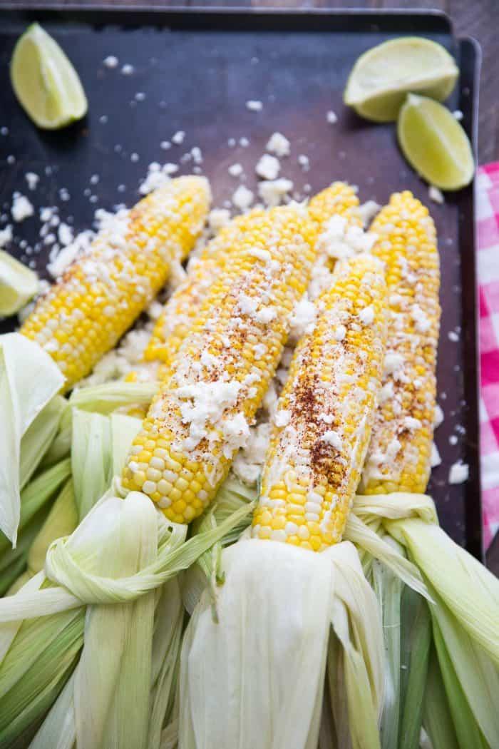 seasoned corn on the cob