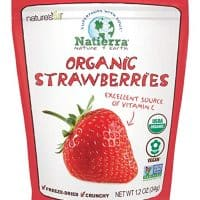 Natierra Nature's All Foods Organic Freeze-Dried and Crunchy, Strawberries Flavor, 1.2 Oz