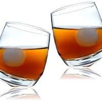 Hoppy Tender Rockin' Whiskey Tumbler Glass with Gift Box Set, Set of 2