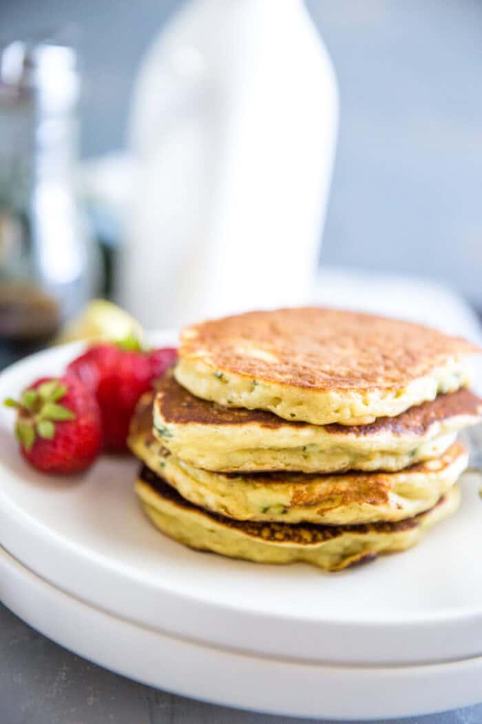 zucchini pancake stack