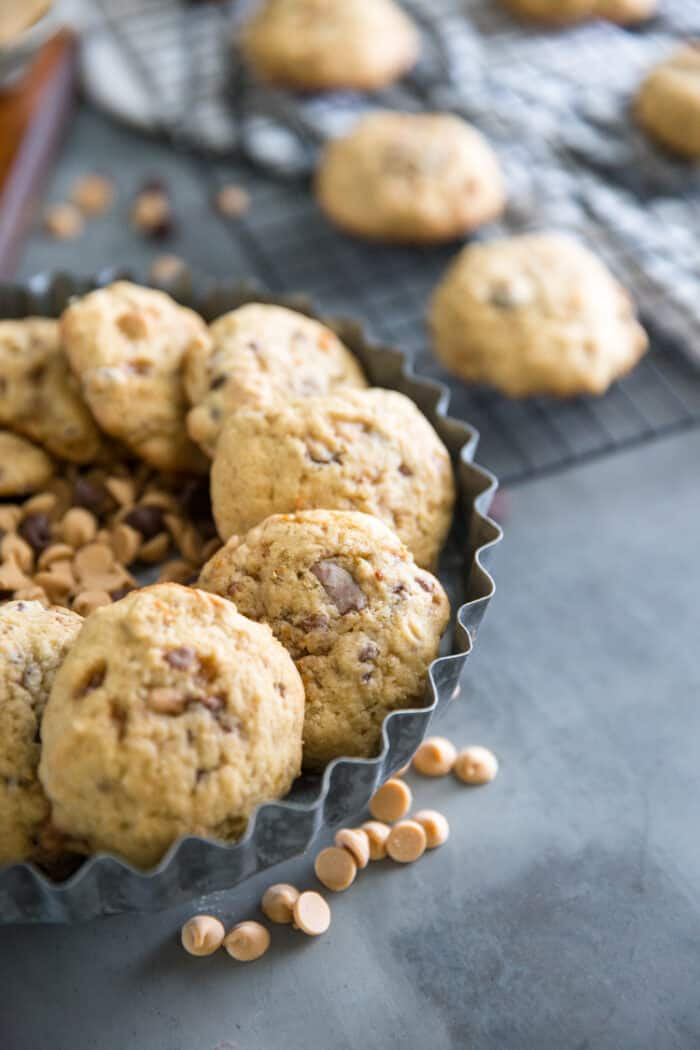 banana cookies with chips